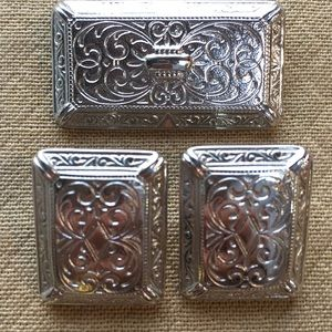 Jewelry - Ginnie Johansen Silver Matching Brooch Earrings